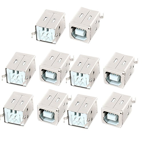 10pcs USB 2.0 Type B Socket Jack 4 Pins 180 Degree Female - Jack Pin Socket