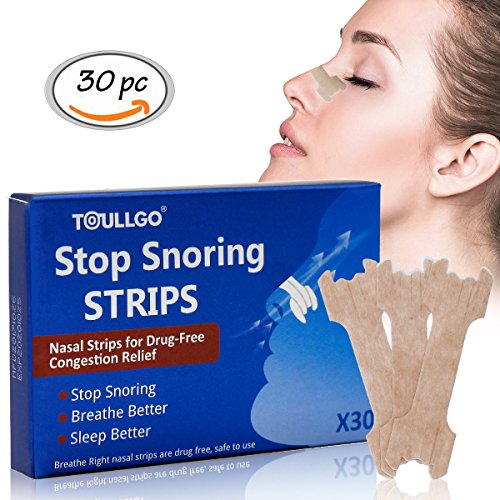Nasal Strips, Snore Strips, Nasal Breathing Strips, Relieves and Opens Nasal Passages, Instant Relief for Allergies, Colds,Flu,Sinus Issues and Snoring, 30PC