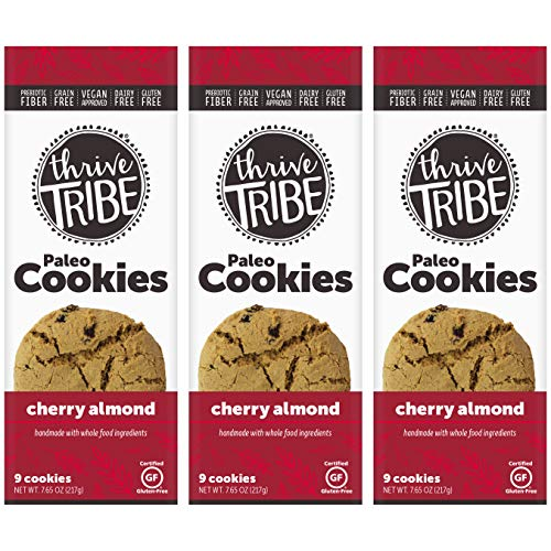 Thrive Tribe Paleo Cookies, Cherry Almond, 7.65 oz (Pack of 3)