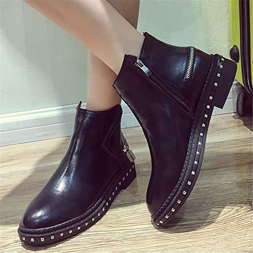 36 Zapatos Mujer Sintética Eu Para De Chelsea Bajos 35 Botines Piel Moda Ymfie wvx8OF