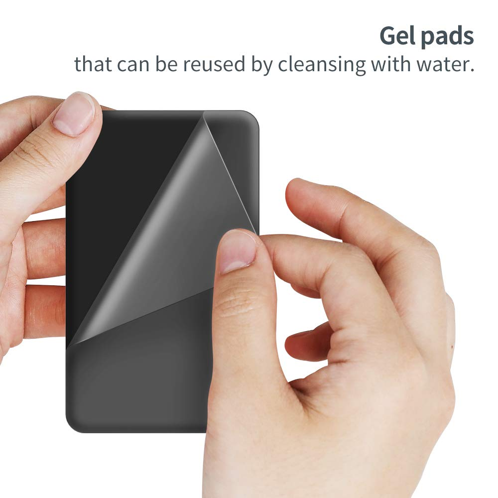 Sinji Pouch L-Flap Sinjimoru Mini Cartera Reutilizable para iPhone y Android Tarjetero Inteligente con pesta/ña de Cierre Tarjetero para tel/éfono m/óvil Color Gris
