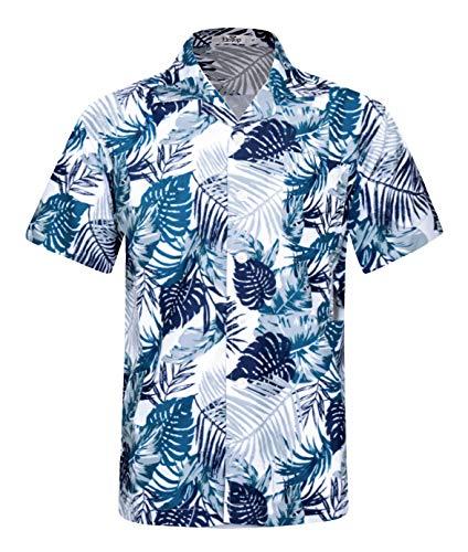 0e5b3706b Men's Hawaiian Shirt Short Sleeve Aloha Shirt Beach Party Flower Shirt  Holiday Casual Shirts