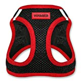Voyager All Weather No Pull Step-in Mesh Dog Harness with Padded Vest, Best Pet Supplies, Medium, Red