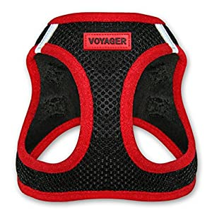 Voyager All Weather No Pull Step-in Mesh Dog Harness with Padded Vest, Best Pet Supplies, Large, Red