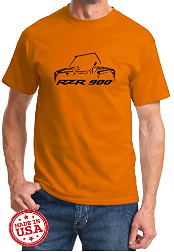 Polaris RZR 900 Off Road Outline Design Tshirt large orange ()