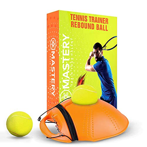 Mastery Products Tennis Trainer Rebound Ball – Solo Tennis Trainer Tool with Long Rope and 2 Training Balls – Self-Study…