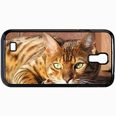 Moda único diseño del teléfono móvil para Samsung GalaxyS4 caso gatos epéndimo BENZODIAZEPINA gatos negros: Amazon.es: Electrónica