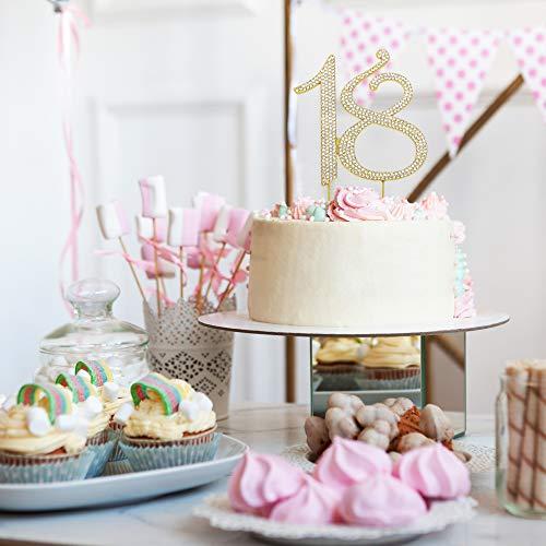 18 GOLD Birthday Cake Topper