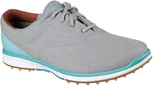 Skechers Women's Go Golf Elite Canvas Golf Shoe,Charcoal,10 M US