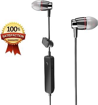 Auriculares Bluetooth con Micrófono lediy sudor cancelación de ruido auriculares inalámbrico Imán atracción Bluetooth Headset Stereo deporte/Running/Gimnasio para Smartphone: Amazon.es: Electrónica