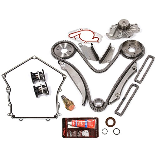 Evergreen TKTCS5027HWPT Fits 98-99 Chrysler Dodge 2.7L Timing Chain Kit Water Pump (SBEC cam gear) Timing Cover Gasket