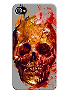 LarryToliver fashion skull Case for iphone 4/4s Cases- Retail Packaging - fashion skull Background image #6