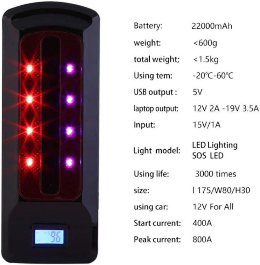 gexingshangdian Portable 99800mAh 12V Emergency Battery Charger Car Jump Starter Smart Clip Power Bank Starting Light Bar US//UK//AU//EU