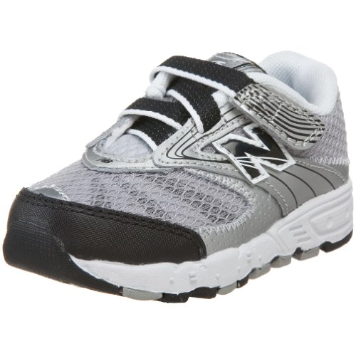 New Balance 687 H&L Sneaker (Infant/Toddler),Silver/Black-SB,4 M US Toddler