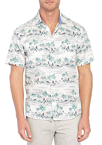 Tommy Bahama What The Hula Camp Shirt (Color: Coconut Cream, Size XL)