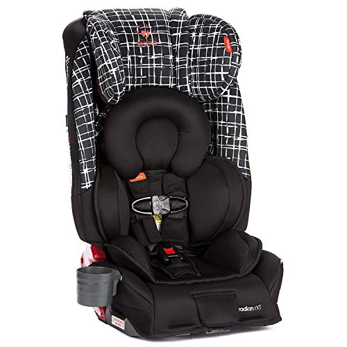 Diono Radian RXT All-in-One Convertible Car Seat, For Children from Birth to 120 Pounds, Black Plaid
