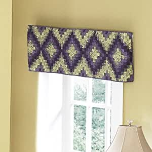 sharp bathroom window coverings | Amazon.com: Donna Sharp Plum Postage Stamp Quilted Cotton ...