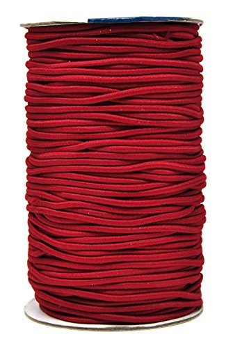 Bead Pony Holder - Mandala Crafts 2mm 76 Yards Fabric Elastic Cord, Round Rubber Stretch String for Journals, Beading, Jewelry Making, Masks, DIY Crafting (Maroon)
