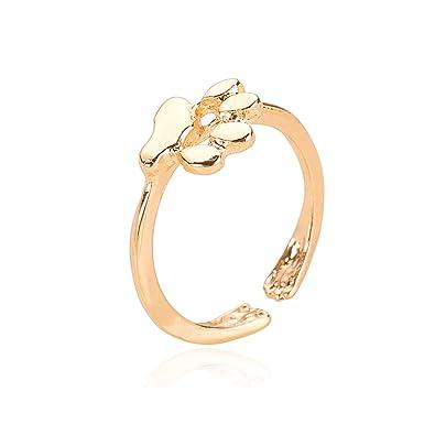 Amazon.com: WLL Animal Gato anillo de huellas de perro ...