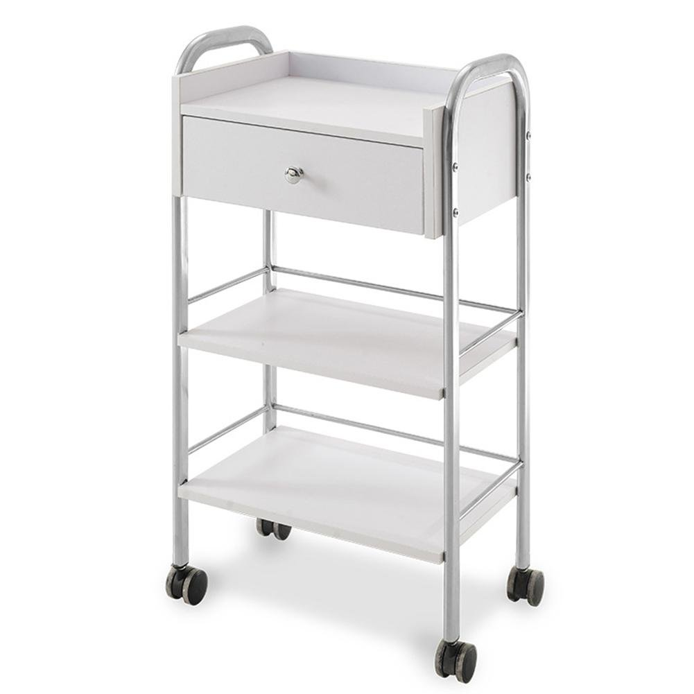 SalonTrolley Hairdressing Trolley Pedicure Manicure Nails Cart Medical Dental Mobile Utility Cabinet & Cart Steel Frame With One Drawer