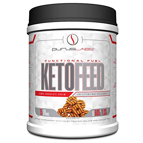 Purus Labs Ketofeed Low Glycemic Meal Replacement, Samoa Chocolate Cream,21.3 Oz (Eas Myoplex Nutrition Facts)