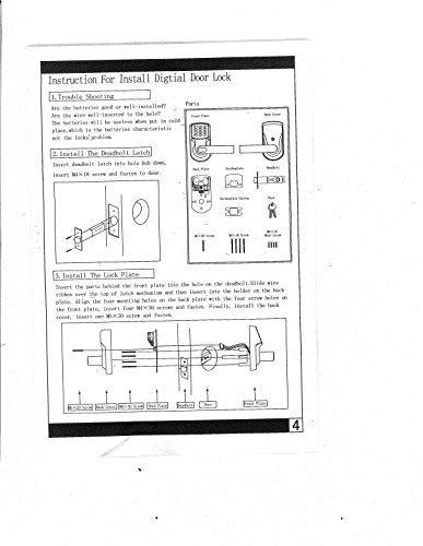 Electronic Keyless Door Lock Set - Satin Nickel (For Right-Hinged Doors Only)