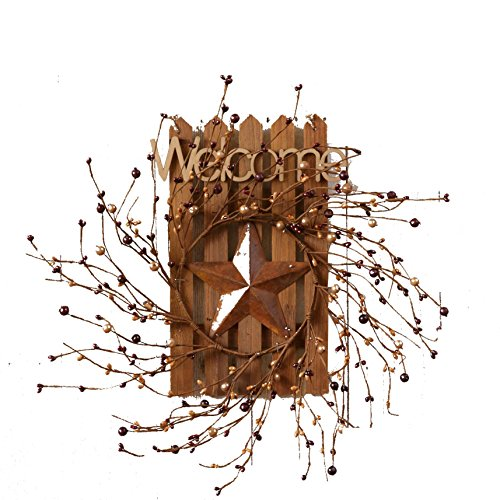 """Your Heart's Delight 12"""" x 8"""" x 4"""" Welcome Wooden Fence with"""