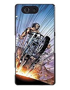 DC Marvel Superhero Comic Book Flip Wallet cover Funda Case for Sony Xperia Z3 Compact - Wolverine - For Fans