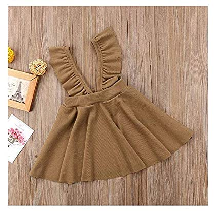 windyghy Toddler Baby Girls Strap Suspender Skirt Overalls Dress Outfit