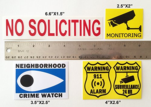 Cheap Security Stickers Business Signs
