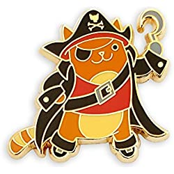 Pinsanity Pirate Cat Enamel Lapel Pin
