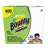 Bounty Quilted Napkins, 1-Ply, 12.2 x 12, White, 200/Pack, 400/Carton by Bounty