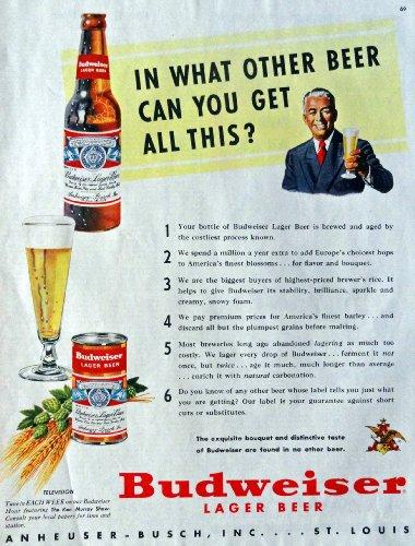 Vintage Budweiser Beer Cans Kamisco