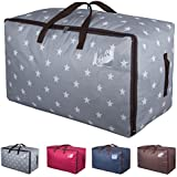 DOKEHOM 100L Large Storage Bag (4 Colors), Fabric Clothes Bag, Thick Ultra Size Under Bed Storage, Moisture proof (Grey)