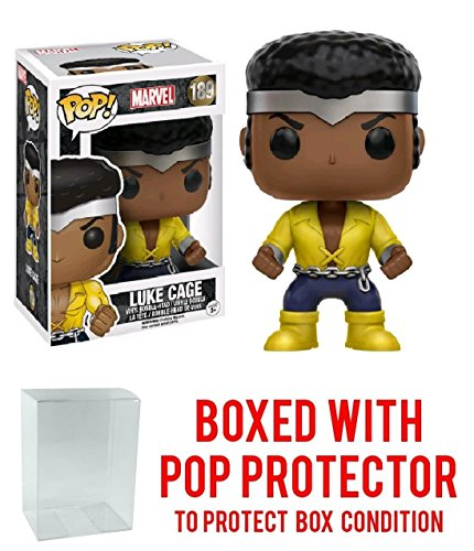 Funko Pop! Marvel Classic Luke Cage Previews Exclusive Vinyl Figure (Bundled with Pop BOX PROTECTOR CASE)