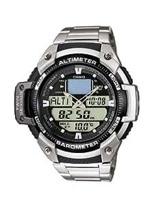 CASIO SGW-400HD-1B - Reloj de pulsera, para hombre, color gris y plateado