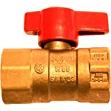 Aviditi 11151-12AVI 3/4-Inch FIP by FIP Gas Ball Valve with Threaded Ends, 12-Pack