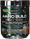 MuscleTech amino build next gen bcaa powder, white raspberry, 30 scoops