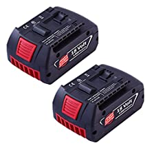 Topbatt Bat620 Battery for Bosch 18v 4.0Ah Li-ion Bat609 Bat609g Bat618 Bat618 Power Tools 2Packs