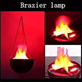 HP95(TM) LED Fire Light Dynamic Moving Flame Effect Simulated Nature Brazier Lamp (Hanging Style)