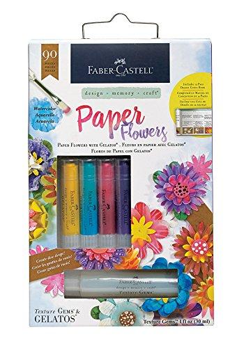 Faber-Castell Paper Flowers Kit - Paper Flowers and Gelatos Kit (Faber Castell Paper)