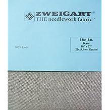 "Zweigart 100% Linen Cashel Raw 28 Ct 18"" x 27"" Cross Stitch Fabric 3281-53L"