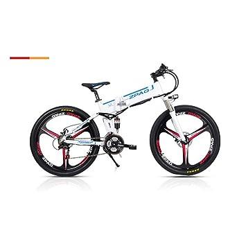 21 velocidades, 26 pulgadas, 48V 10Ah, 350W, bicicleta eléctrica plegable, batería