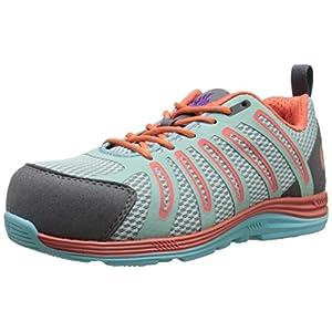 Nautilus 1790 Women's Carbon Composite Fiber Toe Super Light Weight Slip Resistant EH Safety Shoe, Coral, 9.5 W US