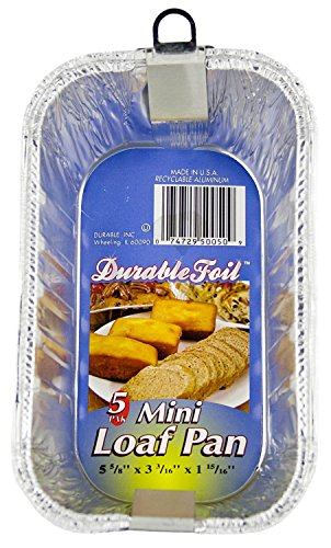 "Durable Foil D50050 6"" Aluminum Mini Loaf Pan (12 Pack 0f 5 / 60 Pans)"