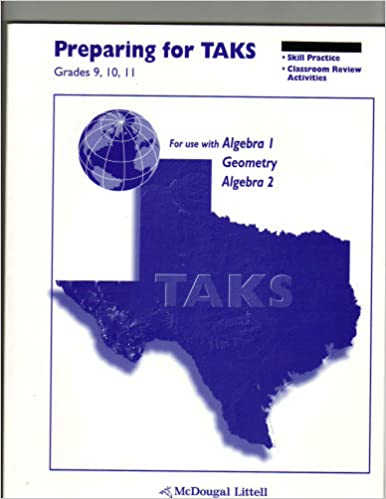 Amazon.com: Math, Grades 9-12 Preparing for Taks Workbook ...