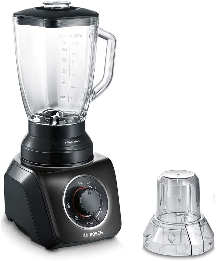 Bosch MMB43G2B SilentMixx Batidora de vaso, 700 W, 2.3 litros de capacidad, 5 velocidades, color negro: Amazon.es: Hogar