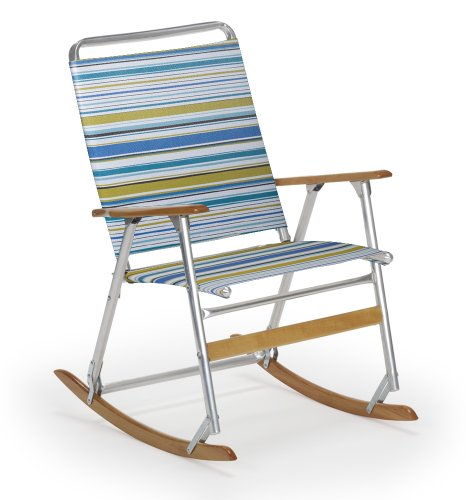 Cheap Telescope Casual High Back Folding Rocking Arm Beach Chair Coastline