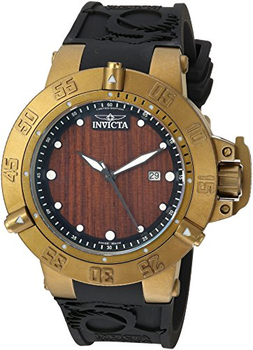 Invicta Men Swiss Quartz Steel Watch - Invicta Men's 'Subaqua' Swiss Quartz Stainless Steel and Silicone Casual Watch, Color:Black (Model: 19642)