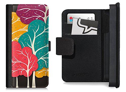 Flip Wallet Case / Klapphülle für iPhone 5 und 5s mit Designer Motiv - ''Happy Forest'' von Danny Ivan